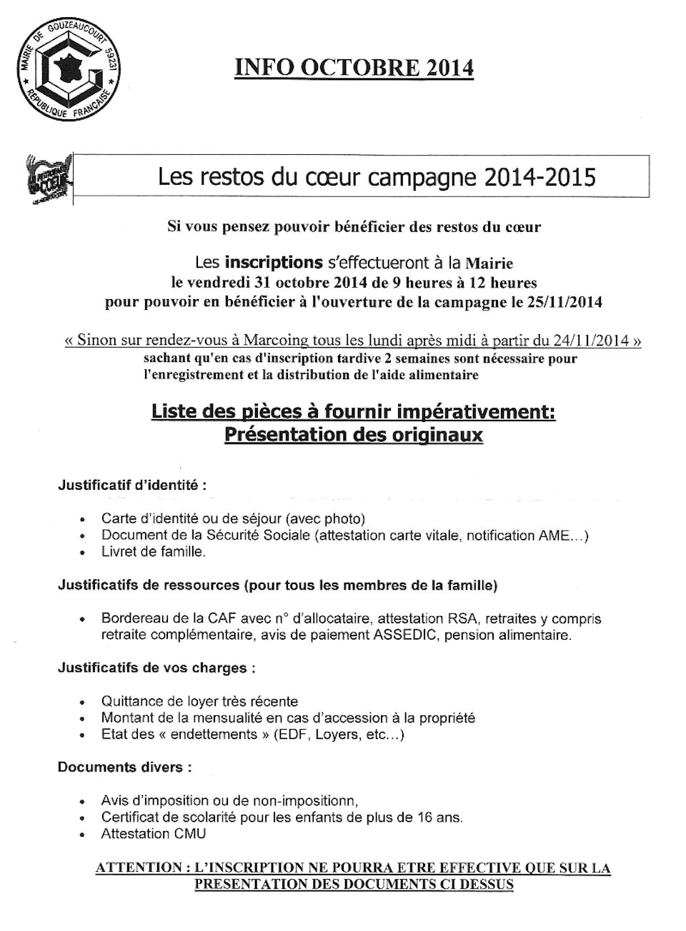 info 1 oct 2014