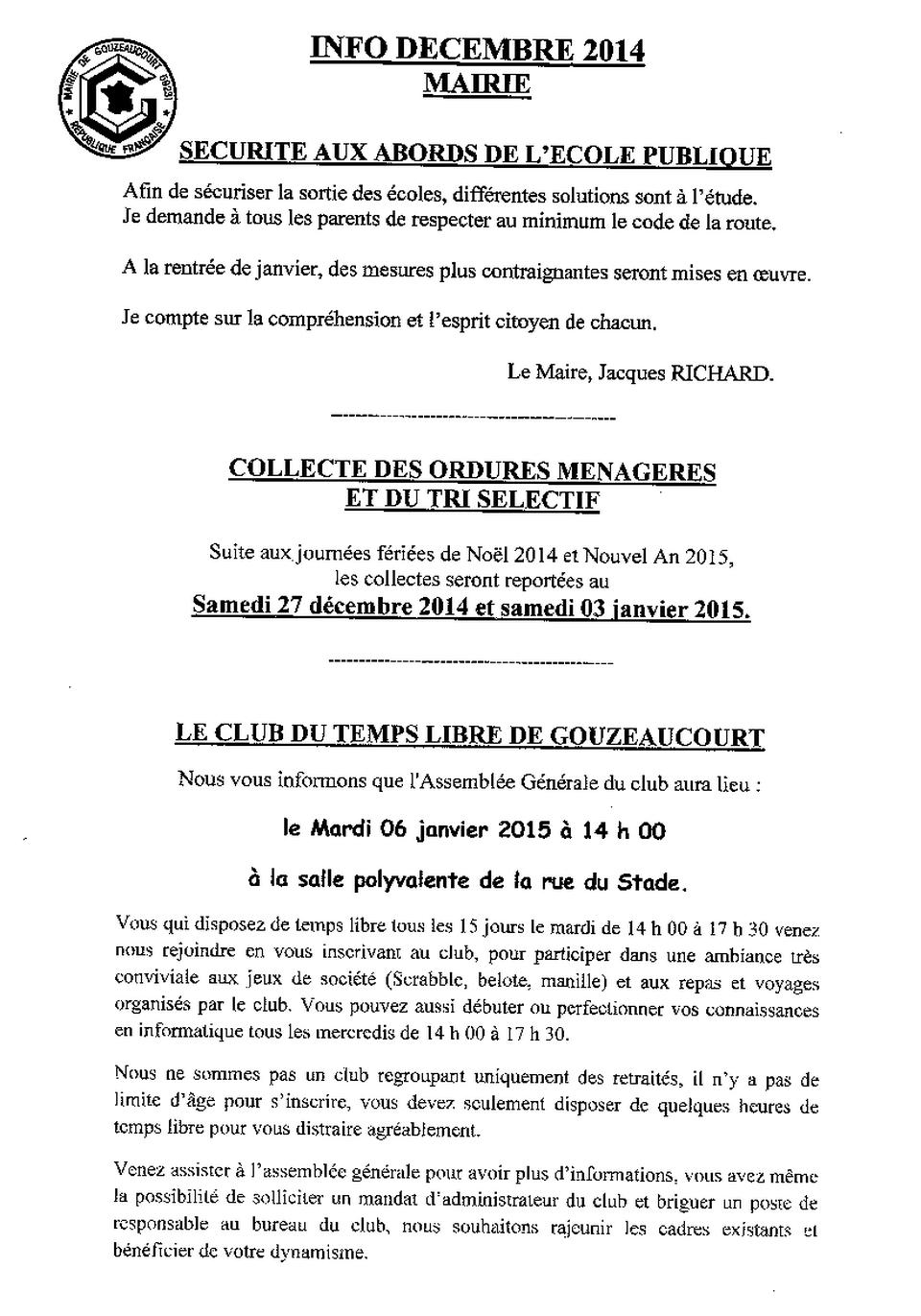 info 1 dec 2014